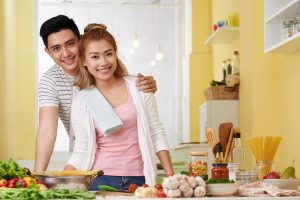 filipino couple buying their first home